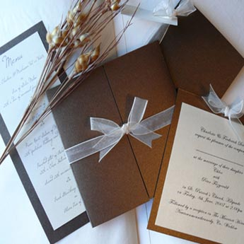 Classic Bronze - Wedding Invitations