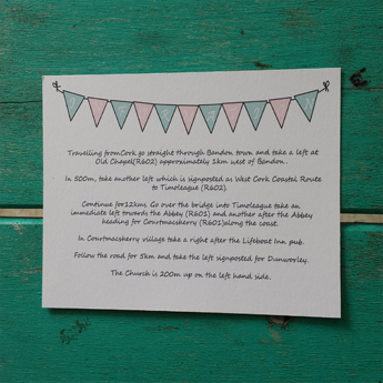 Bunting Fun - Wedding Invitations
