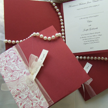 Delicate Swirls - Wedding Invitations