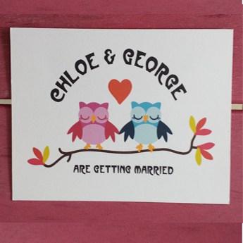 Owls - Wedding Invitations