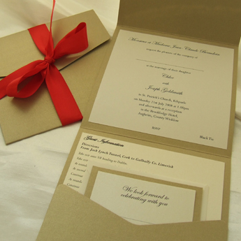 Pocketfolds - Wedding Invitations
