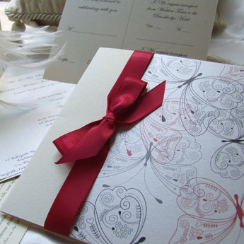 Romantic Butterflies - Wedding Invitations
