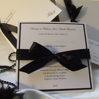 Satin Touch Black - Wedding Invitations