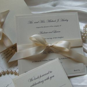 Satin Touch Ivory - Wedding Invitations