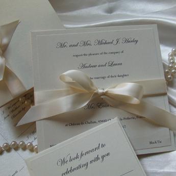 Satin Touch Ivory - Wedding Invitations