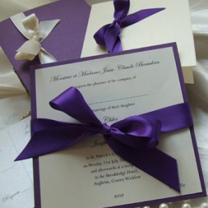 Satin Touch Purple - Wedding Invitations