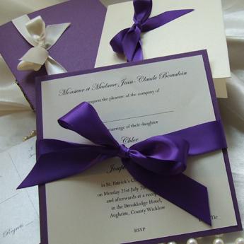 Satin Touch Purple - Wedding Invitations