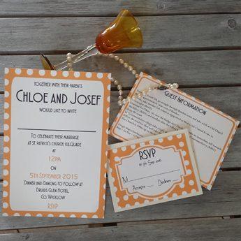 Wedding Invitations - Vintage Spots Orange