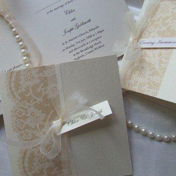 Antique Lace - Wedding Invitations