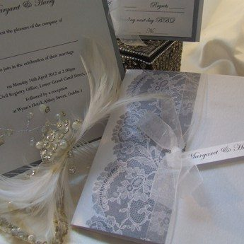 Antique Lace - Wedding Invitations