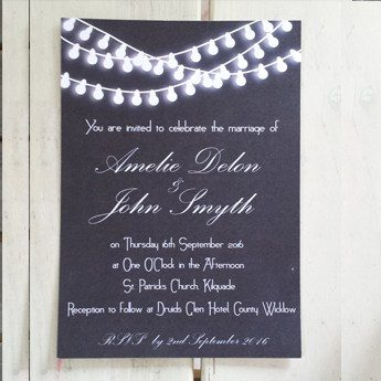 Festival Lights - Wedding Invitations