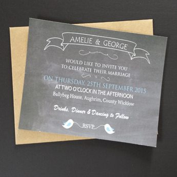 Chalkboard - Wedding Invitations