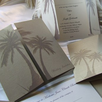 Palm Trees - Wedding Invitations
