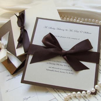 Satin Touch Bronze - Wedding Invitations