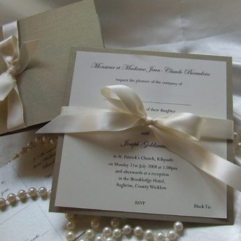 Satin Touch Gold - Wedding Invitations