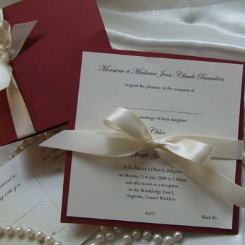 Satin Touch Red - Wedding Invitations