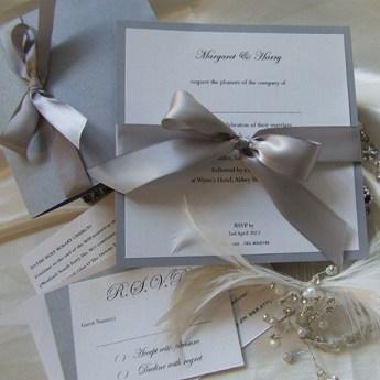 Satin Touch Silver - Wedding Invitations