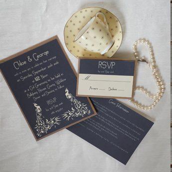 Two Peacocks - Wedding Invitations