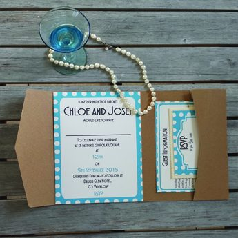 Vintage Spots Blue - Wedding Invitations