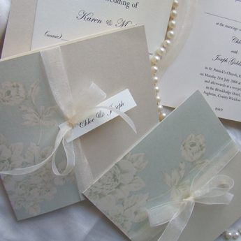 Vintage Floral Blue - Wedding Invitations
