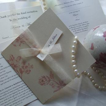 Vintage Floral Pink - Wedding Invitations