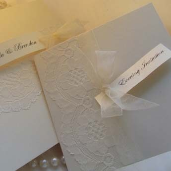 Real Vintage Lace - Wedding Invitations